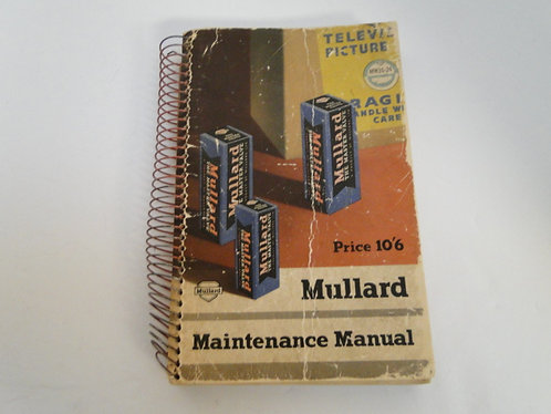 Mullard Maintenance manual