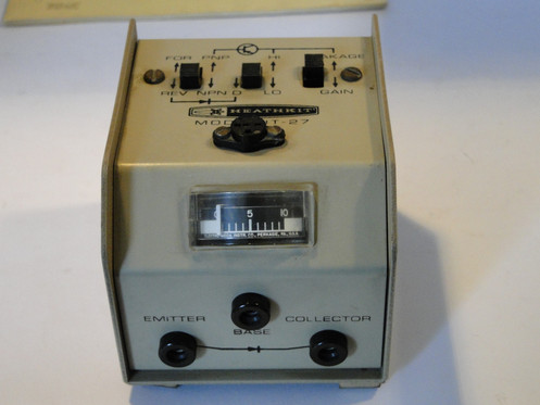 HEATHKIT Model IT-27 Transistor Checker + Manual