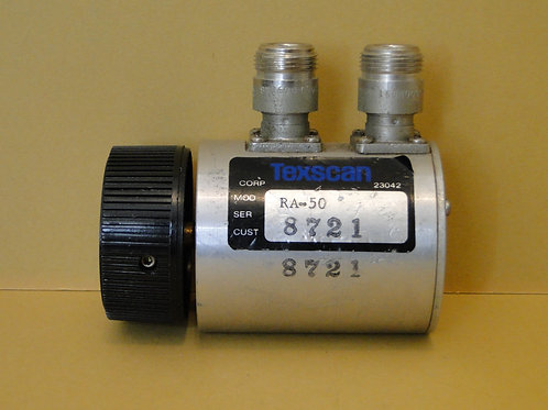 TEXSCAN MOD RA-50 VARIABLE ATTENUATOR  N TYPE CONNECTOR