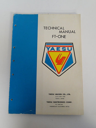 Yaesu FT-ONE Technical Manual