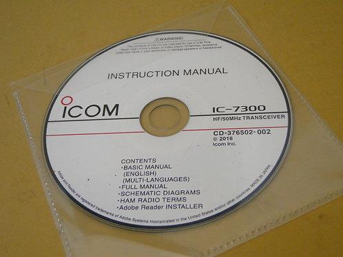 ICOM IC-7300 INSTRUCTION MANUAL CD