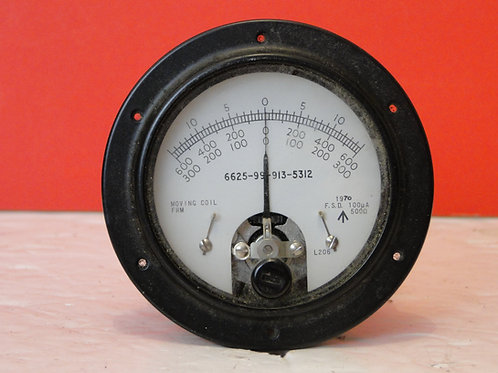MILITARY CENTRE POSITION AMMETER 6625-99-913-5312