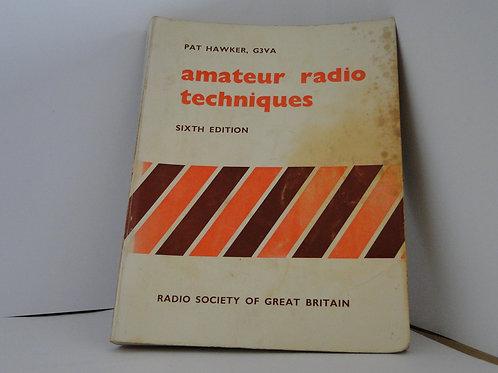 Amateur Radio Techniques by Pat Hawker G3VA 1978 6th edn