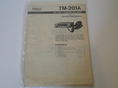 TRIO TM-201A 2M FM TRANSCEIVER INSTRUCTION MANUAL