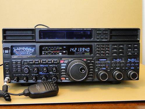 YAESU FTDX5000 HF 50MHz TRANSCEIVER SN 0J110032 / YAESU SM-5000 STATION MONITOR