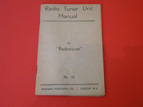 RADIO TUNER UNIT MANUAL