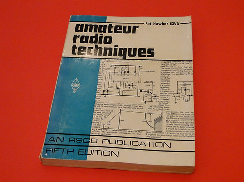 AMATEUR RADIO TECHNIQUES, PAT HAWKER G3VA, RSGB