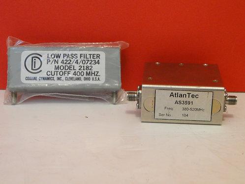 LOW PASS FILTER MODEL 2182, ATLANTEC AS3591