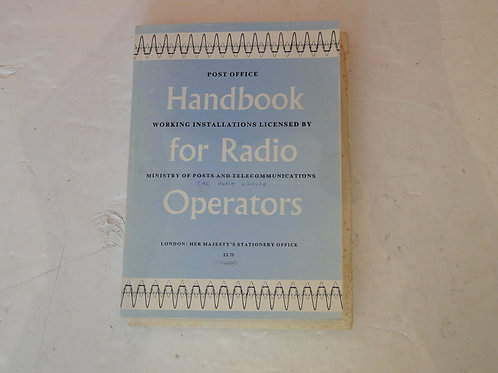 HANDBOOK FOR RADIO OPERATORS, GPO