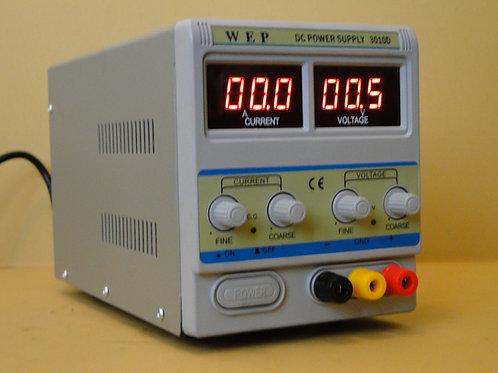 W E P DC POWER SUPPLY 3010D