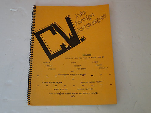 CW INTO FOREIGN LANGUAGES 1ST EDITION