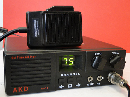 AKD MODEL 6001 6M TRANSCEIVER SN 6M9503278