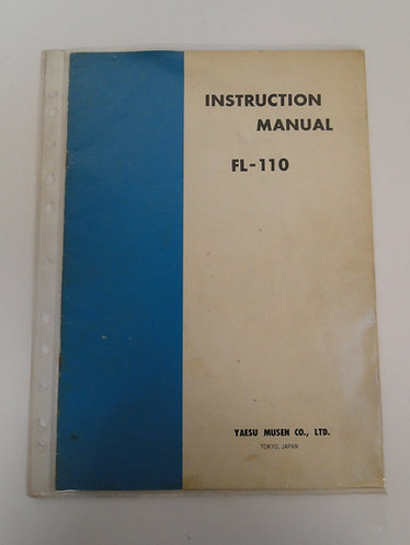 Yaesu FL-110 Instruction Manual