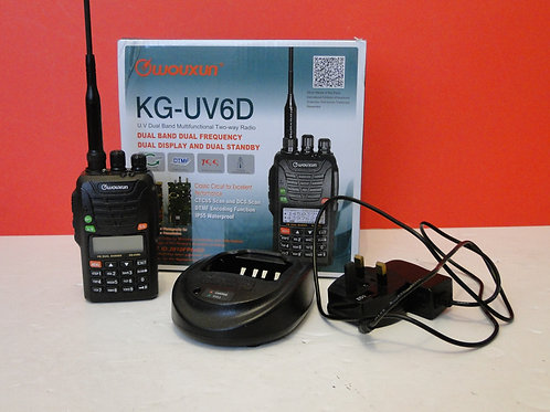 WOUXUN KG-UV6D U.V DUAL BAND MULTIFUNCTIONAL TWO-WAY RADIO SN T04EP0386