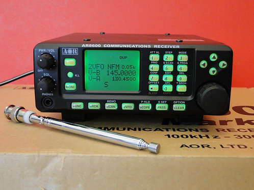 AOR AR8600 MARK 2 COMMUNICATIONS RECEIVER  SN 078212