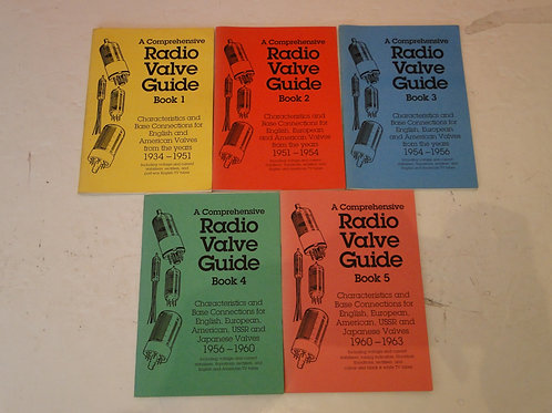 RADIO VALVE GUIDE BOOKS 1-5,  G C ARNOLD PARTNERS