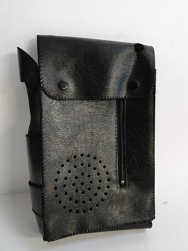 Black Leather Radio Case