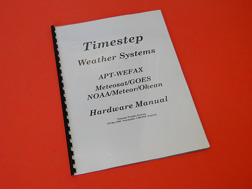 TIMESTEP WEATHER SYSTEMS HARDWARE MANUAL
