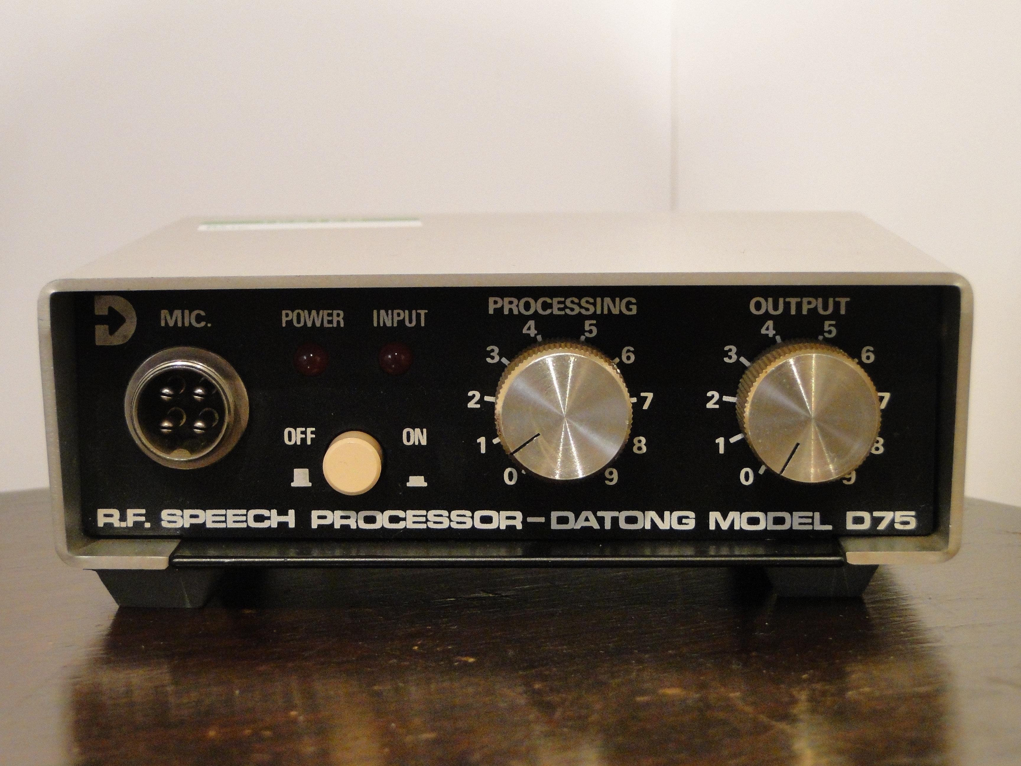 R F Datong electronics Limited model D75 (4-pin) speech processor