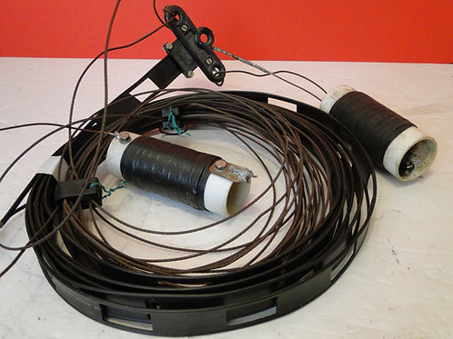AERIAL 2 TRAP COILS , LADDER LINE RIBBON, DIPOLE