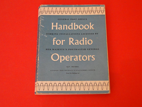 HANDBOOK FOR RADIO OPERATORS, GPO