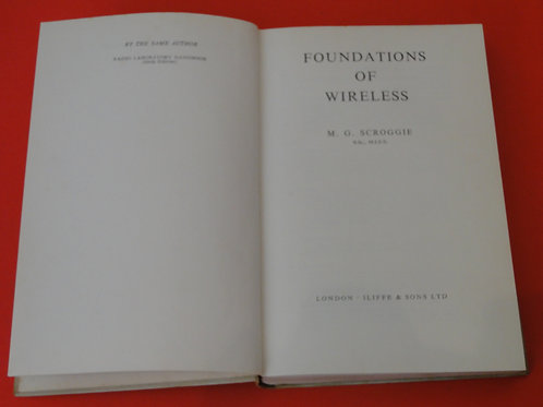 FOUNDATIONS OF WIRELESS, M.G SCROGGIE,   7th EDITION