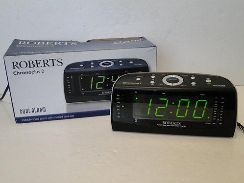 ROBERTS CHRONOPLUS 2 FM/MW DUAL ALARM
