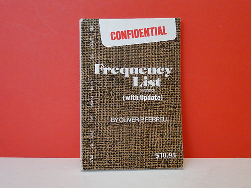 CONFIDENTIAL FREQUENCY LIST OLIVER FERRELL