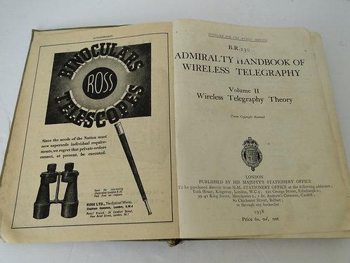 ADMIRALTY HANDBOOK OF WIRELESS TELEGRAPHY VOL 2