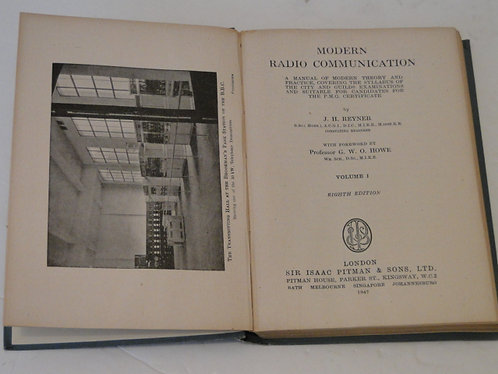 RADIO COMMUNICATION - VOL 1 REYNER