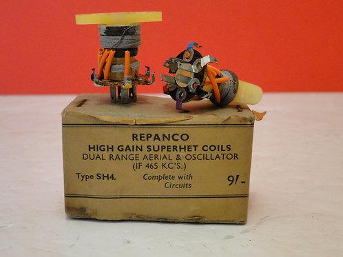 REPANCO HIGH GAIN SUPERHET COILS TYPE SH4