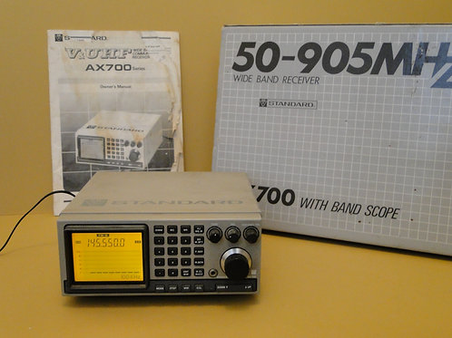 STANDARD AX700 VHF WIDE BAND RECEIVER WITH BAND SCOPE SN 94F040287