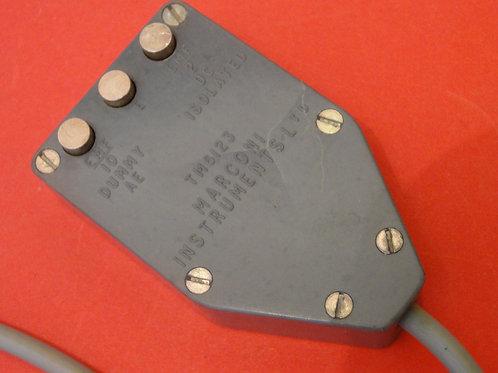 MARCONI TM6123 DUMMY AERIAL & D. C. ISOLATING. UNIT