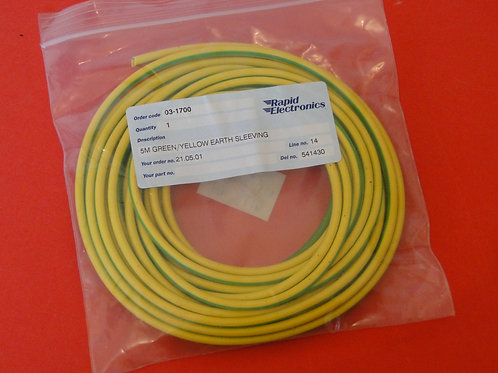 5M GREEN/YELLOW EARTH SLEEVING