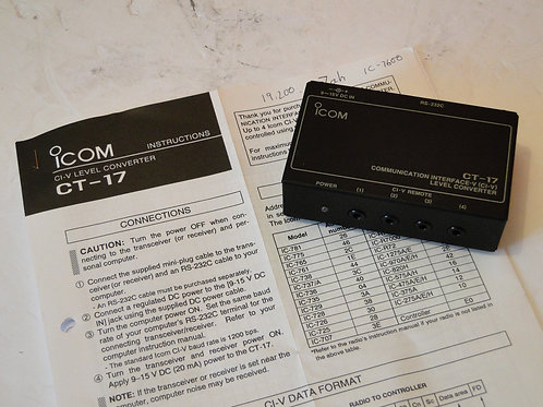 ICOM CT-17 COMMUNICATION INTERFACE   SN 0301946