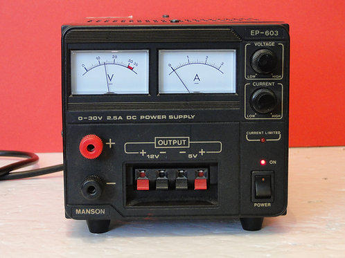 MANSON EP-603 0-30V 2.5A DC POWER SUPPLY