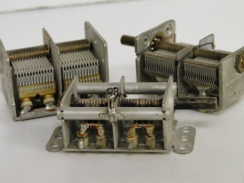 variable air spaced capacitors x 3