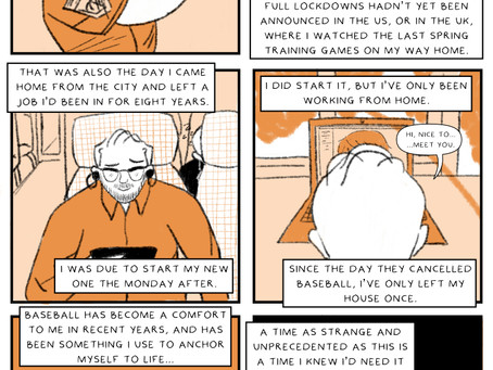 A new baseball comic from our very own Paddy & Sam