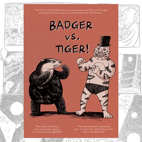 Badger vs. Tiger by John Cei Douglas