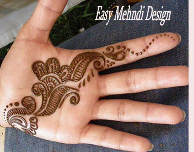 Latest Mehndi design for kids