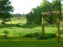Entrance to the wetland