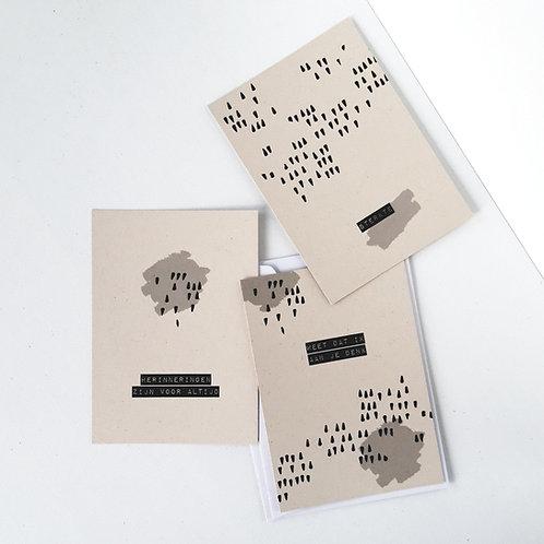 Rouwkaart | Herinneringen zijn voor altijd