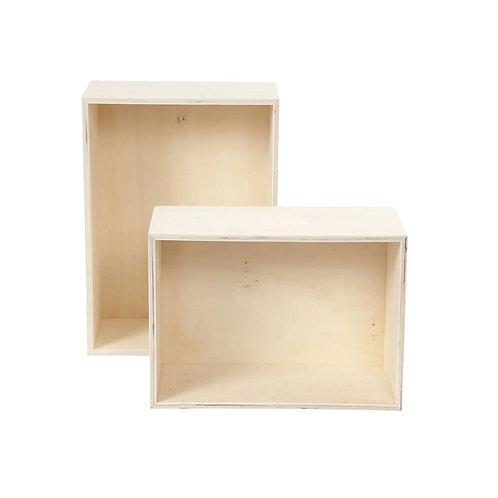 Presentatieboxen - set van 2 rechthoekig