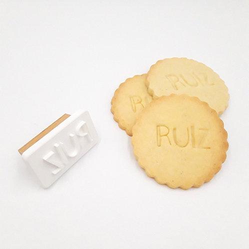 Gepersonaliseerde koekjesstempel