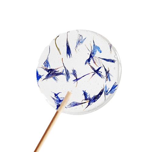 Lolly eetbare bloemen - korenbloem blauw (vanaf 20st)