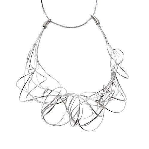 Collar corto LIANAS plateado