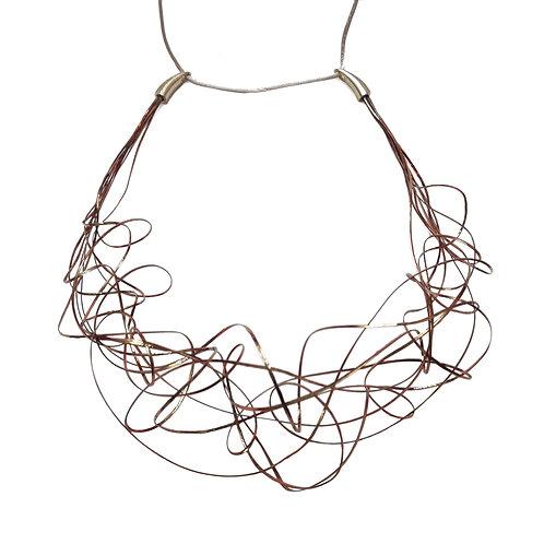 Collar corto LIANAS cobre