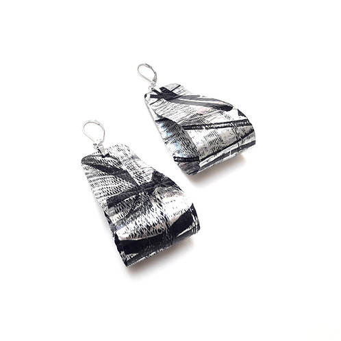 Aros CINTAS - negro/plata