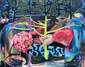 """Yggdrasil  oil on canvas 48"""" x 60"""" 2018"""