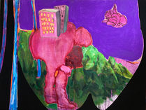 "Adventures in a Hawaiian Landscape  oil on canvas 36"" x 48""  2021"